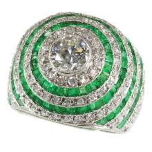 Emerald and Diamond Ring c.1950