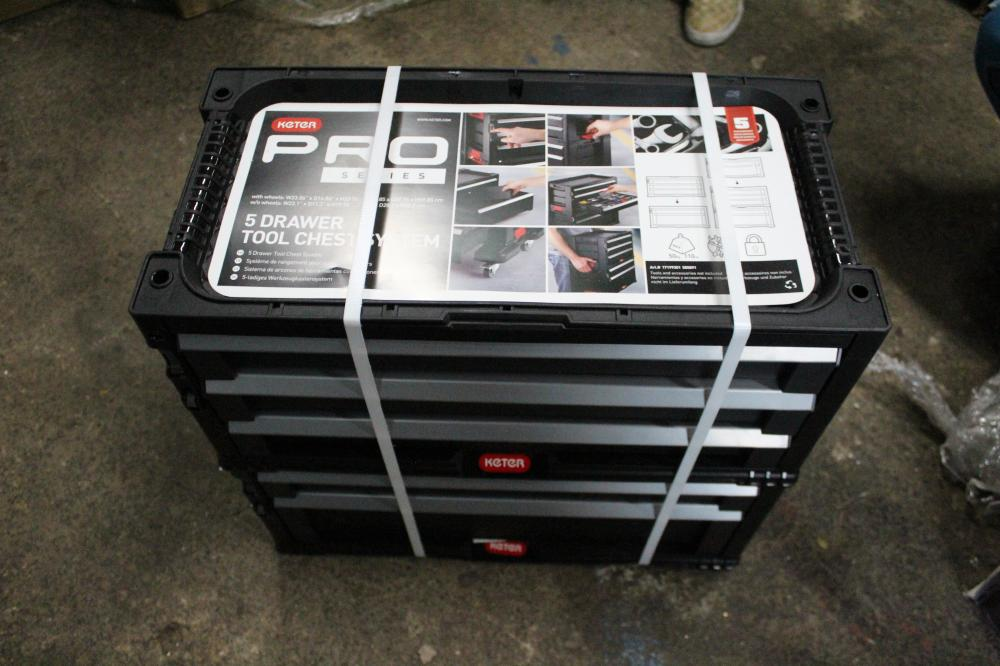 KETER PRO SERIES 5 DRAWER TOOL CHEST SYSTEM