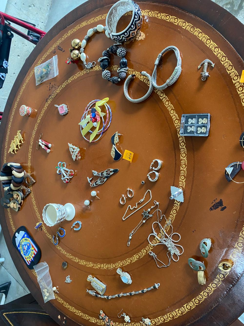 COSTUME JEWELRY LOT WITH SOME STERLING SILVER PIECES