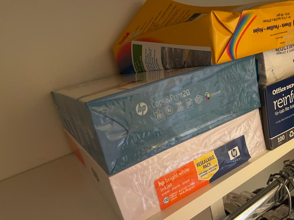 LOT OF ASSORTED COPY AND PRINT PAPER