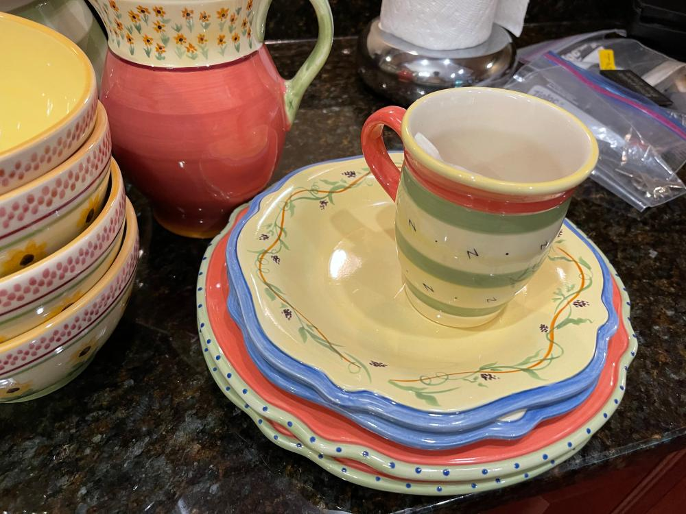 PISTOULET BY. PFALTZGRAFF SERVING SET AND MIS. KITCHEN ITEMS