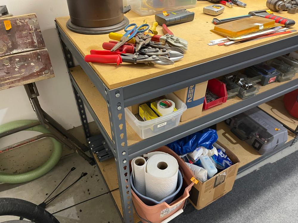 METAL UTILITY SHELVES DOES NOT INCLUDE CONTENTS