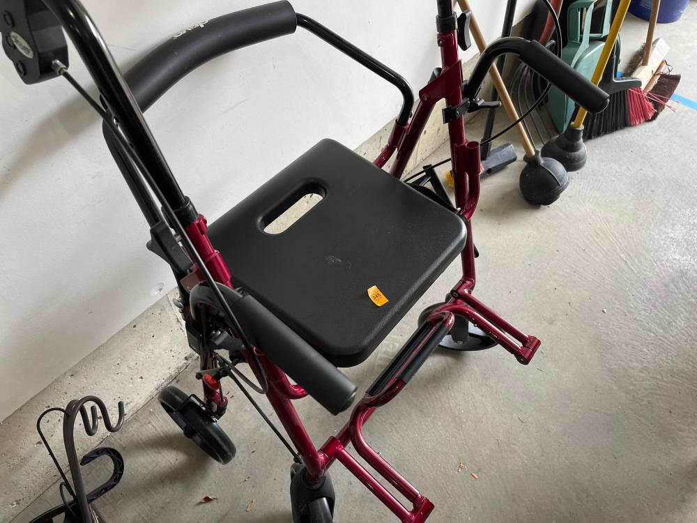 RED AND BLACK DRIVE MOBILITY WALKER