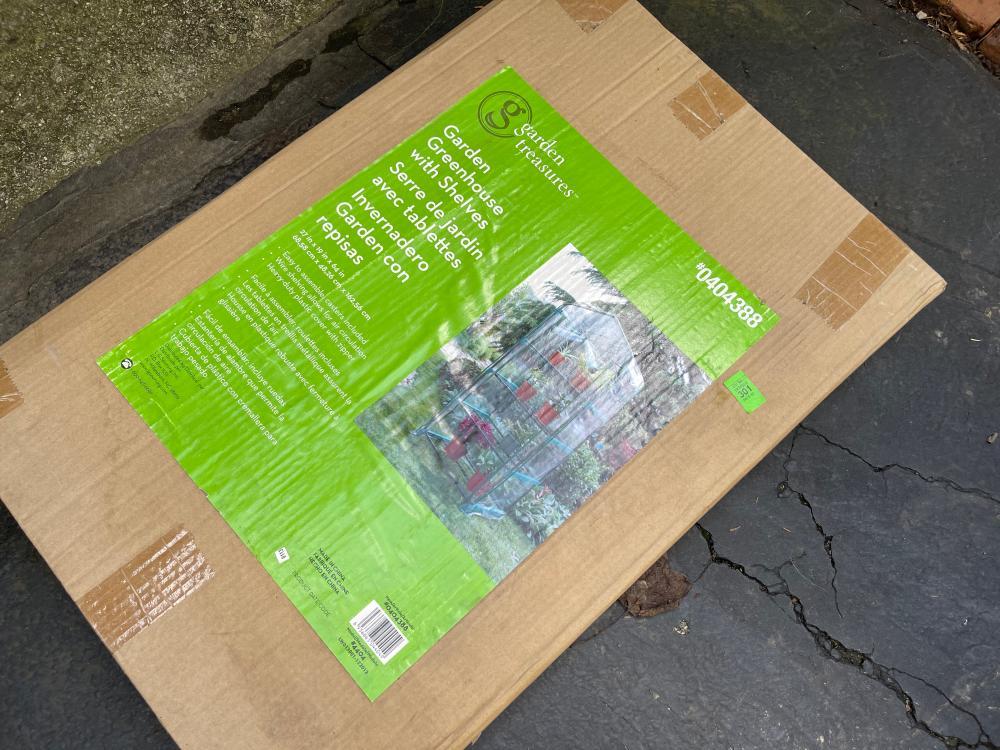 GARDEN TREASURES MODEL 0404388 GARDEN GREENHOUSE WITH SLEEVES