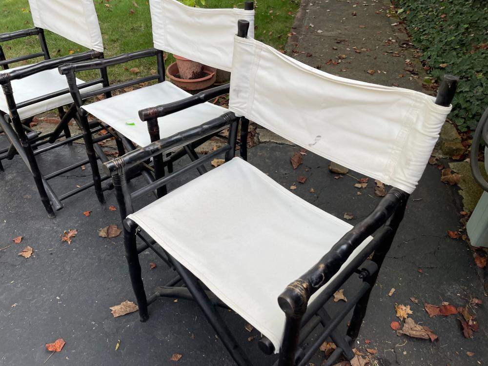 4 BAMBOO STYLE DIRECTORS CHAIRS