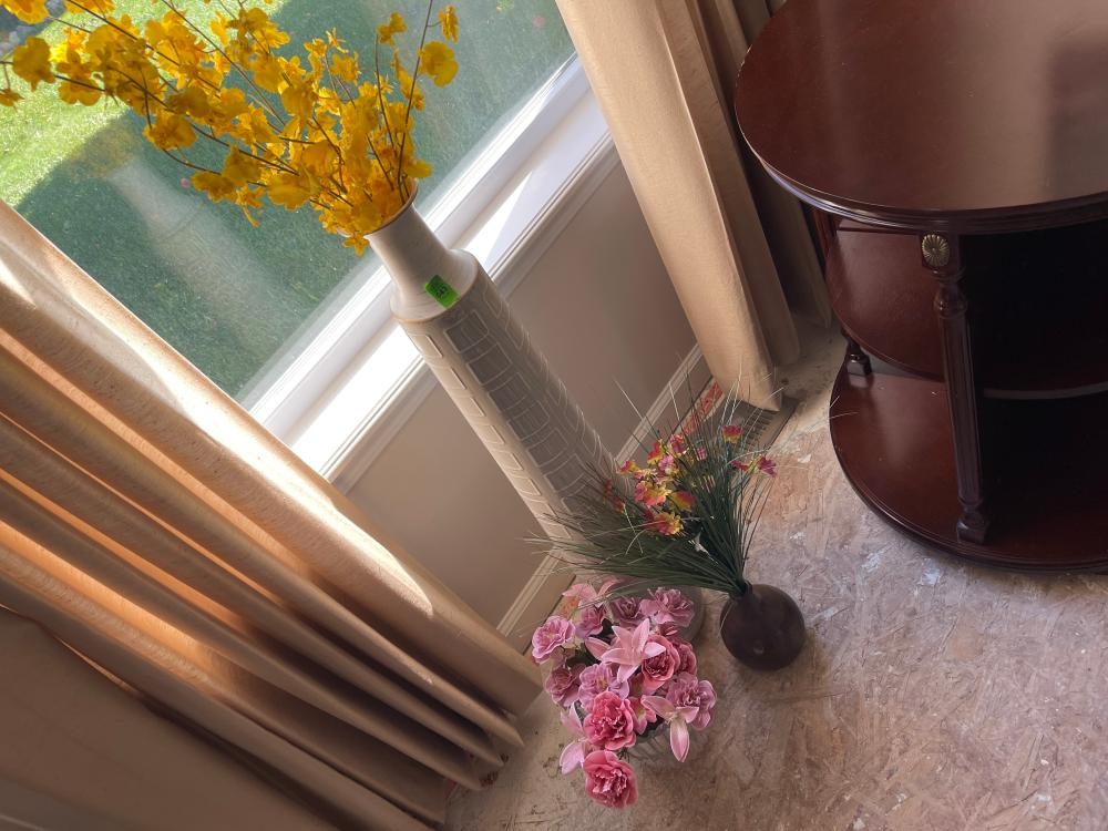 FAUX FLOWERS AND VASES