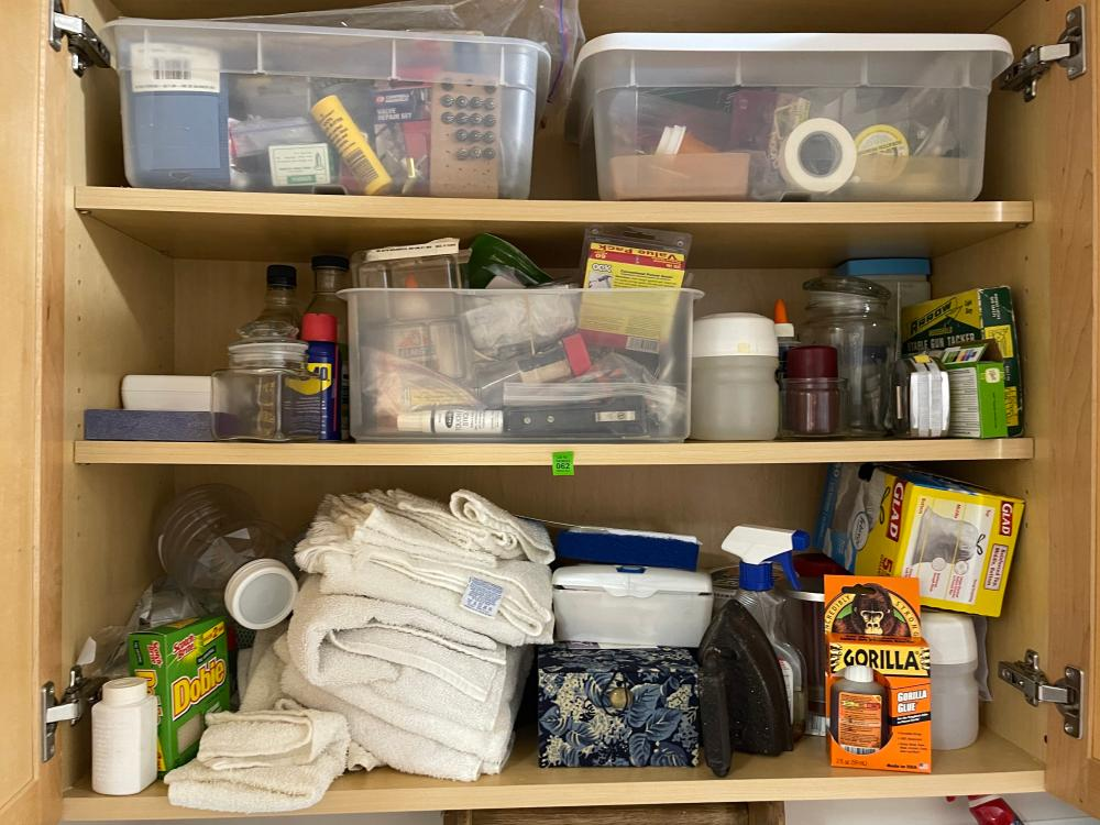 LAUNDRY ROOM CABINET CONTENTS