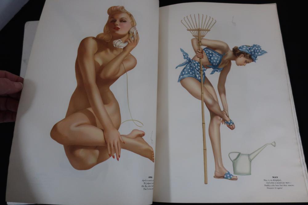 VINTAGE ESQUIRE MAGAZINE FOR MEN DEC. 1940 W/NUDE VARGA GIRL ART PIN UP PRINTS AND PAMELA RANDALL CENTERFOLD, WATCH & CAR ADS