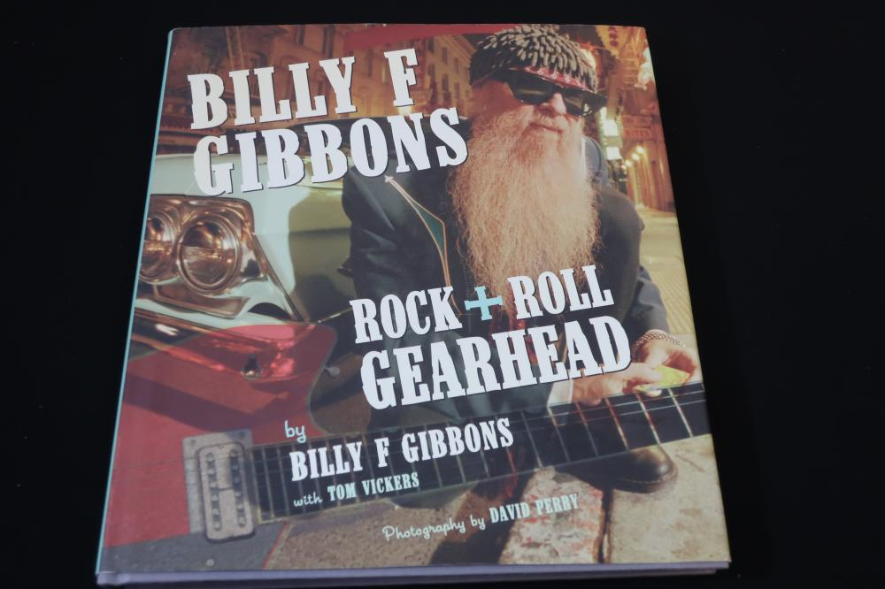 ZZ TOP BILLY F. GIBBONS ROCK & ROLL GEARHEAD HARD BACK COFFEE TABLE PHOTO BOOK