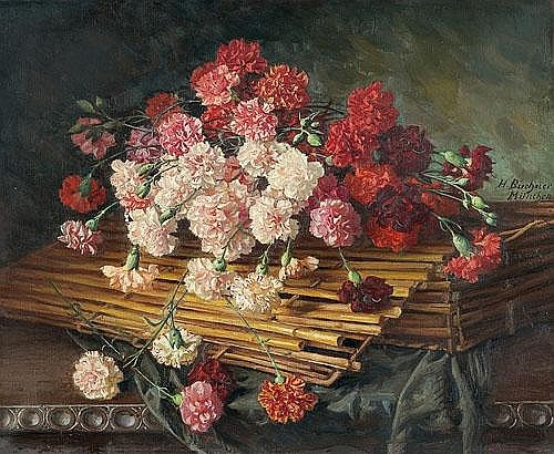 Buchner Hans - Gillyflowers In A Basket