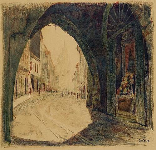 Rubczak Jan: Florianska street in Krakow