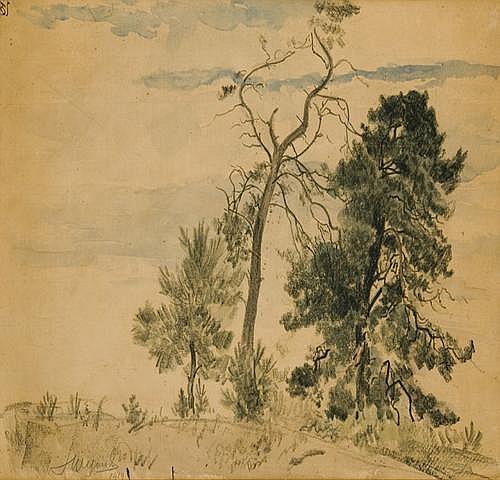 Wyczó ł kowski Leon: Pine trees, 1919