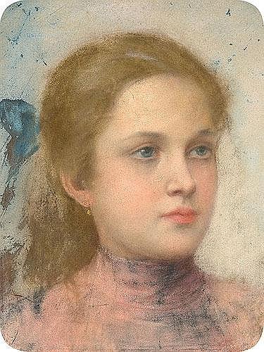Ajdukiewicz Tadeusz - PORTRAIT OF A GIRL