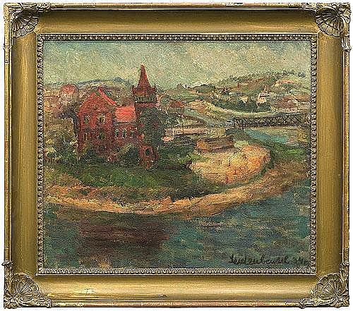 Seidenbeutel Efraim i Menasze - VIEW OF THE VISTULA RIVER AND THE BRIDGE IN KRAKO