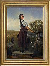Blume Edmunde - COUNTRY GIRL, 1873, oil, canvas