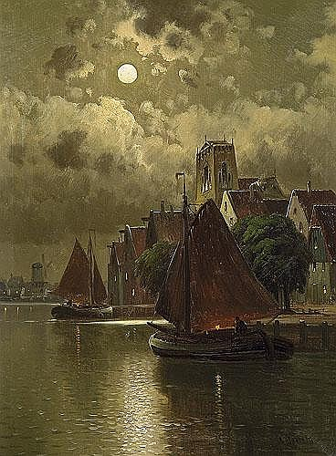 Bertold Carl - NOKTURN. CANAL IN THE NETHERLANDS