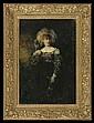 Piątkowski Henryk - LADY WITH A PARROT, oil, board