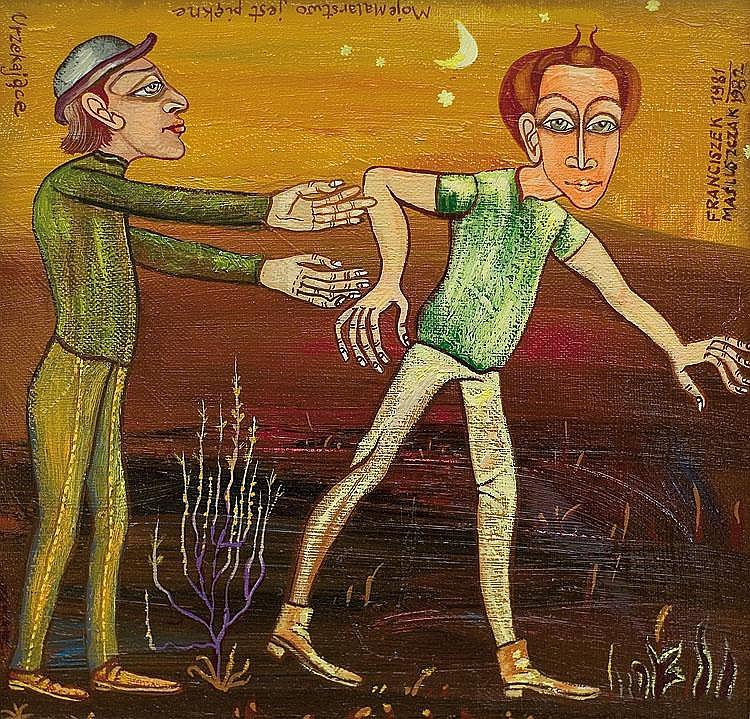 Masluszczak Franciszek Melody oil, canvas 1981-82