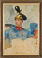 Malczewski Jacek - OFFICER'S PORTRAIT, 1917, oil, cardboard