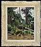 Podkowiński Władysław - WOODS IN FONTAINEBLEAU, 1889, oil, canvas