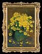 Karpiński Alfons - MARSH-MARIGOLDS, 1934, oil, cardboard