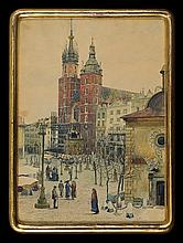 Wiltsch Richard - CRACOW OLD SQUARE, 1916, watercolour, ind. ink, paper