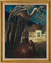 Stańko Michał - ALL SOULS DAY OF WAR, 1938-1944, oil, canvas