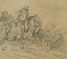 Michałowski Piotr - CUIRASSIERS, pencil,paper