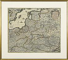 Wit Frederick de - , engraving hand coloured, ribbed paper
