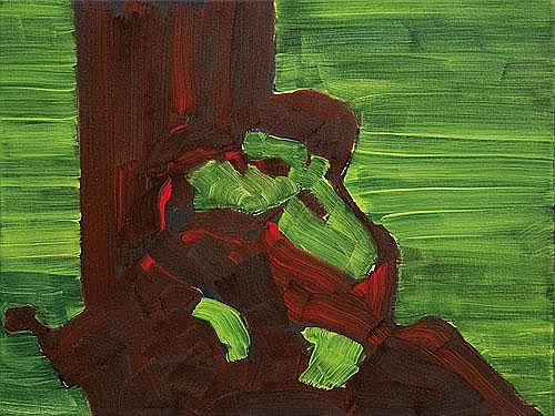 Untitled Materka Bartek oil, canvas 37,8x45,7cm
