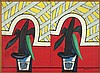 Przybylski Janusz -  FLOWERS (DIPTYCH), 1984, acrylic, oil, canvas,, Janusz Przybylski, Click for value