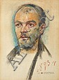 Portrait of a man, Stanislaw Wyspianski, Click for value