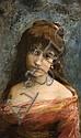 Portrait of a young woman, Leon Wyczółkowski, Click for value