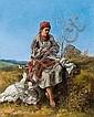 Goose shepherd, Tadeusz Rybkowski, Click for value