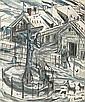 Dwurnik Edward Christ in Winter Landscape, 1990, Edward Dwurnik, Click for value