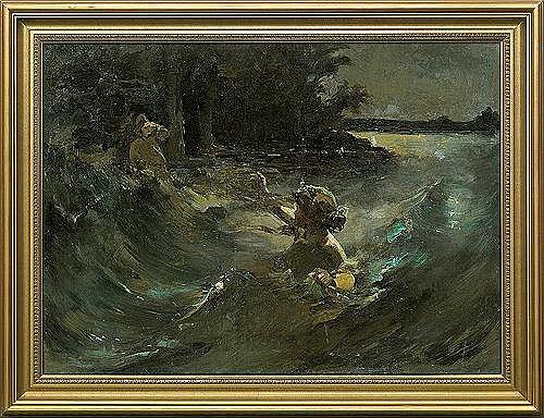 Alchimowicz Kazimierz    WATER  NYMPH, 1898  1900, oil, canvas