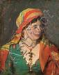 Alchimowicz Kazimierz - GYPSY, 187[?], oil, canvas