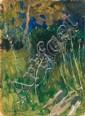 Stanisławski Jan - BUSHES, oil, cardboard