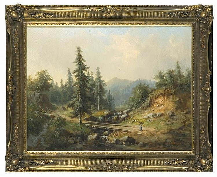 Schwarzwald Mountains Landscape, 1868