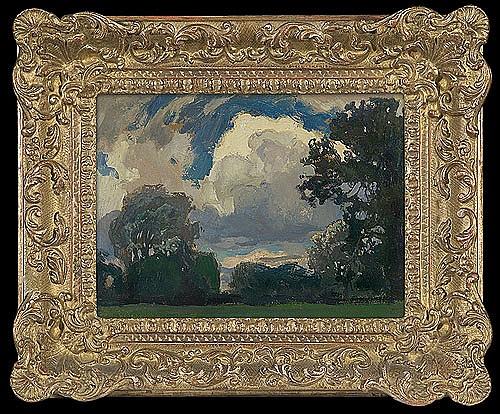 Stanisławski Jan - CLOUD, 1903, oil, cardboard
