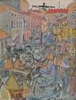 Dwurnik Edward - CHRIST IN THE SQUARE, 1979, oil, canvas