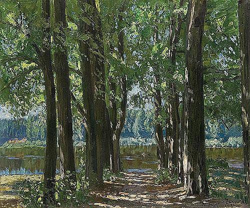 Zukowski Stanislaw - LINDEN ALLEY, 1931, oil, canvas