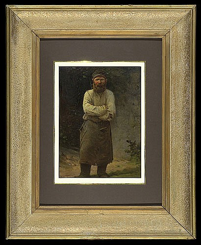 Unknown Russian Painter of XIX/XX - STUDY OF MAN IN APRON