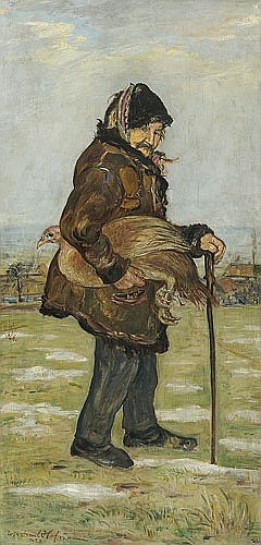 Hofman Vlastimil - WOJTEK FROM PRZEGORZAŁY, 1923, oil, plywood