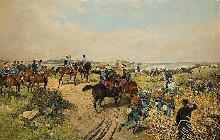 Franz Josef on Manoeuvres..., 1885