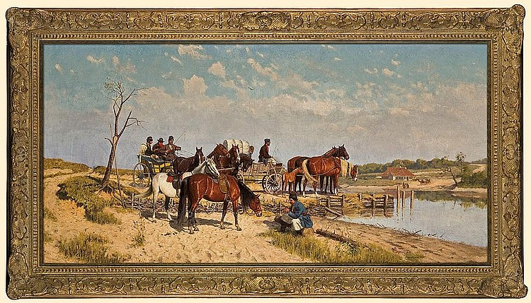 Waiting for the Ferry-Boat, 1885