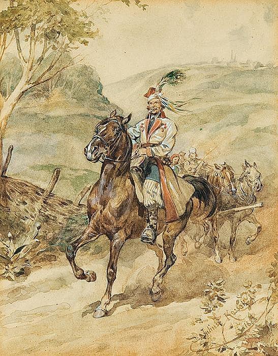 Cracovian rider, 1885