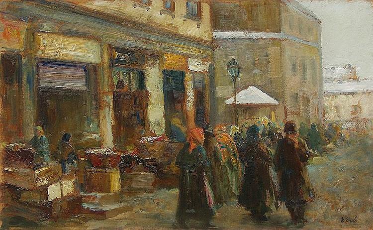 Marketsquare in Lvov, 1920-1930