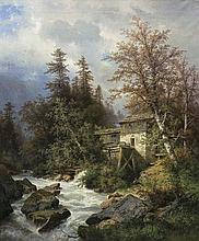 Hasch  Carl  - LUMBERMILL, 1890 , oil, canvas