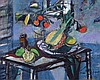 Menkes Zygmunt - STILL LIFE WITH TROPICAL FRUITS, AFTER 1950, oil, canvas, Sigmund Joseph Menkes, PLN50,000